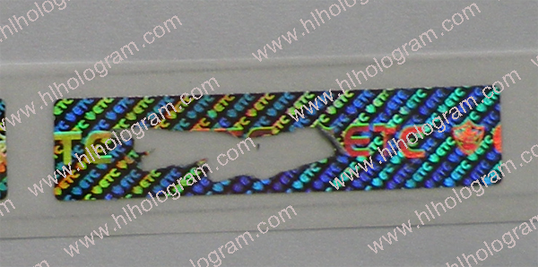 scratch off hologram labels in roll